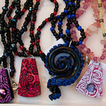 Polymer clay jewelry by Addie Hall