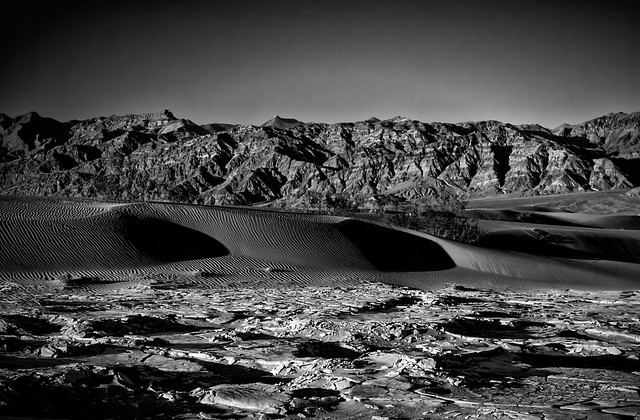 Textured layers of Death Valley, CA