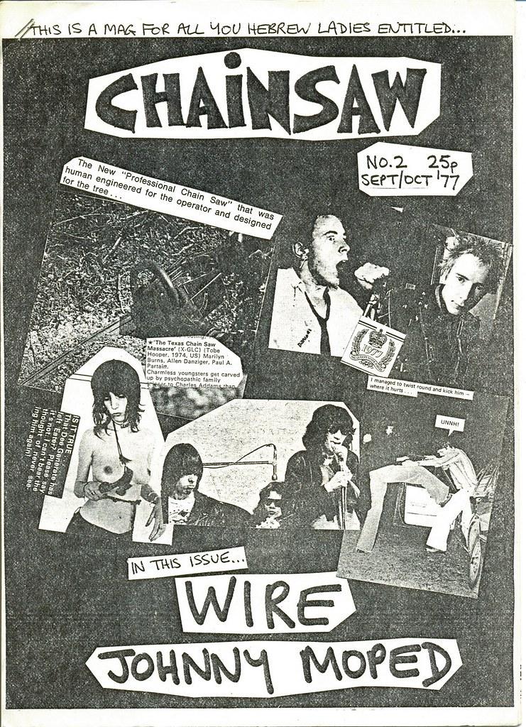 CHAINSAW fanzine, September 1977, punk rock | CHAINSAW punk