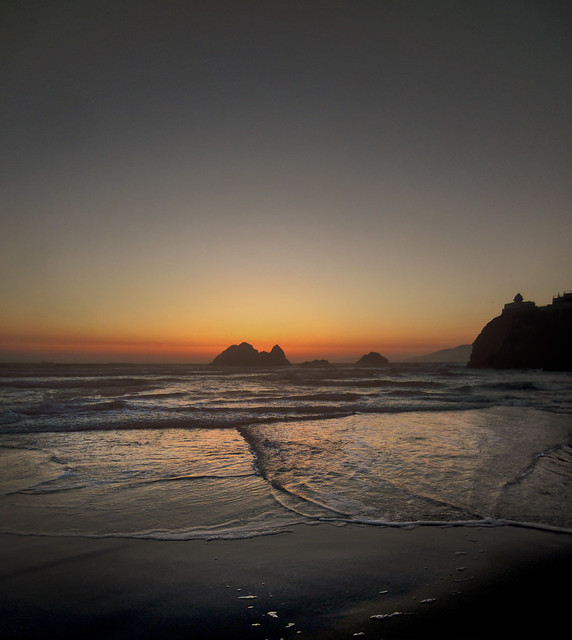 Ocean Beach, San Francisco, sunset (2012)