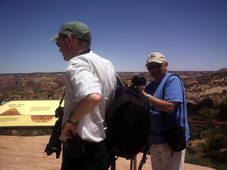 2012 santa fe Macguyver's Apprentice & JB -- a photograph of the photographers as they look over the overlook