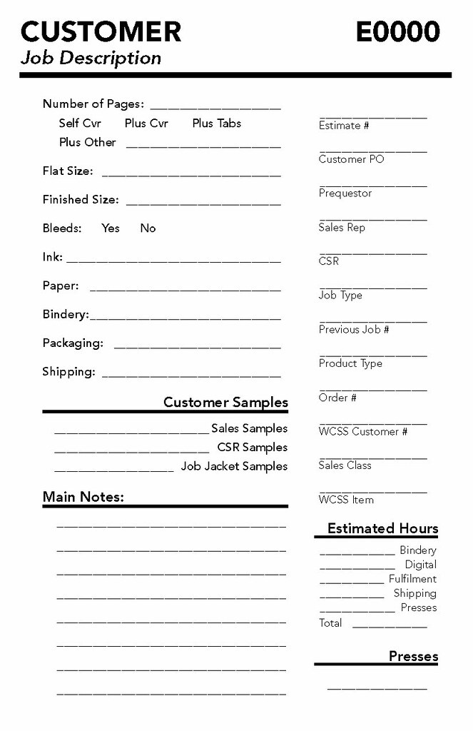 printing job order form  Sample Print Order Form | A half-page redesign of our two pa ...