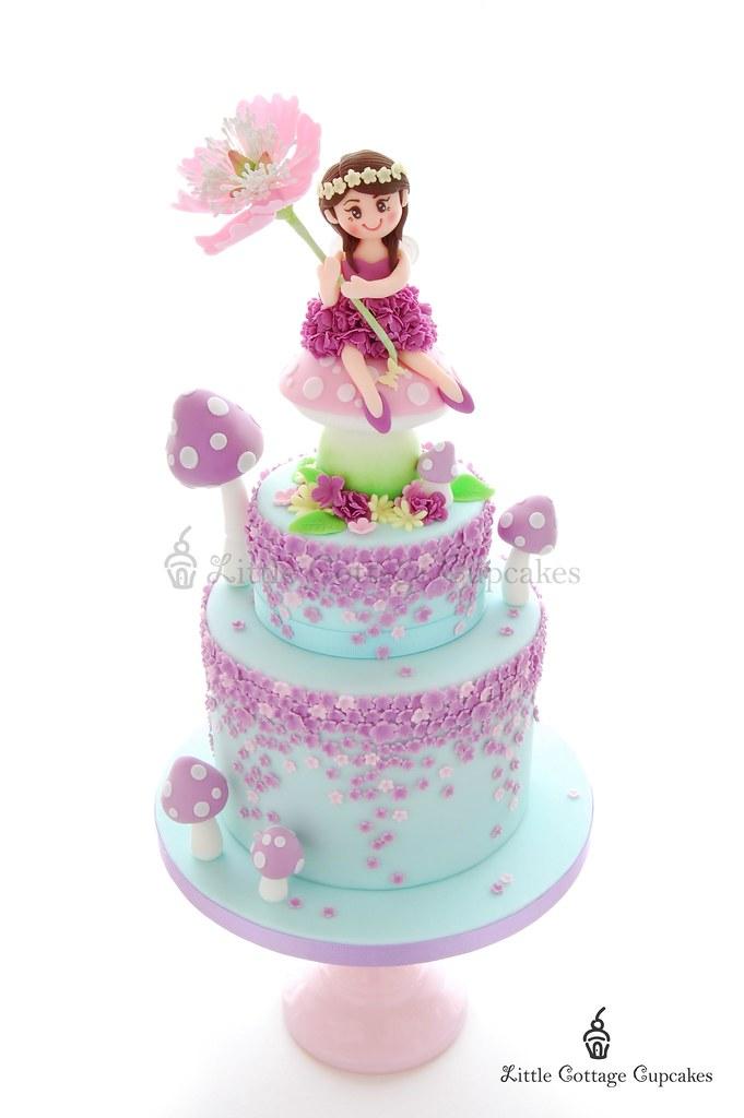 Pleasing My Girls 7Th Birthday Fairy Cake My Little Girl Loves Fai Flickr Personalised Birthday Cards Epsylily Jamesorg