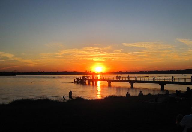 ein schöner Sommerabend an der Seebrücke von Kitzeberg