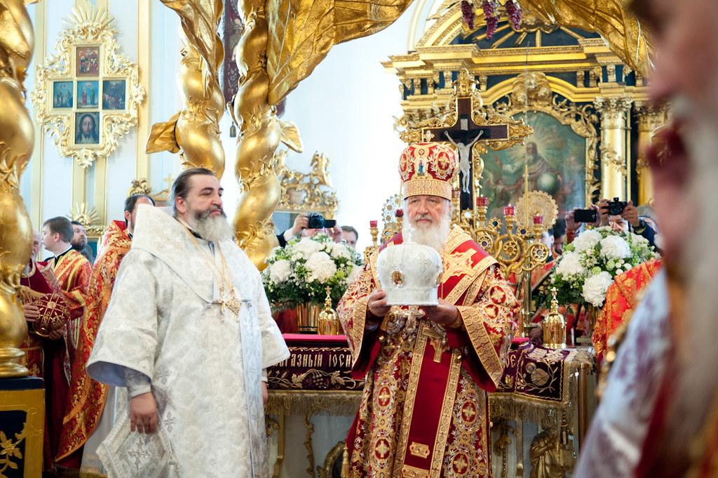 22 мая 2012, Патриаршее богослужение в Николо-Богоявленском соборе Санкт-Петербурга