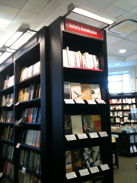 Bookshelves at Waterstones