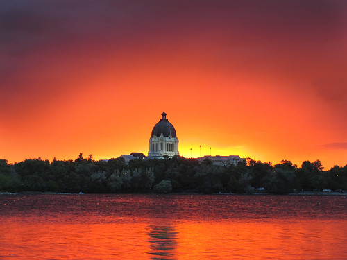 park red orange lake canada reflection water architecture wow landscape lights parliament colourful regina saskatchewan canadaday frontpage wascanalake onfrontpage