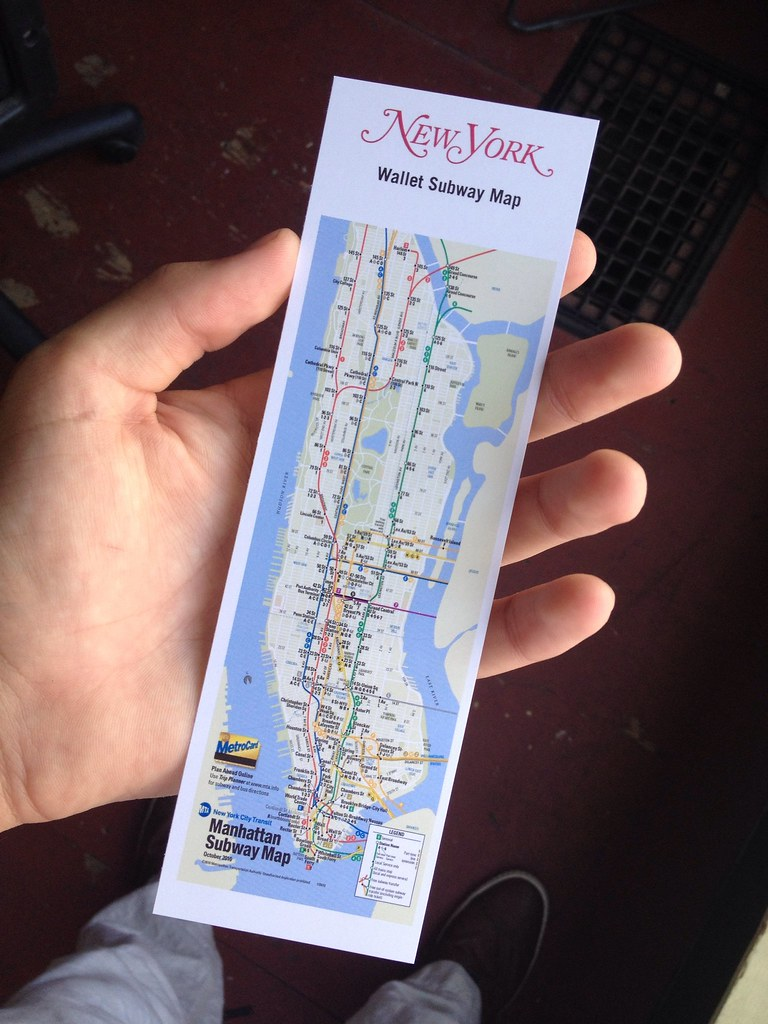 New York Subway Map Wallet.New York Magazine S Free Subway Map Only Shows Manhattan Flickr