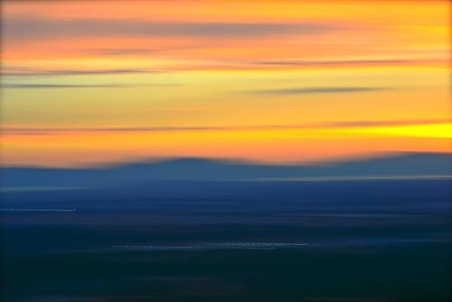 abstract blur mountains greatsaltlake impressionist intentionalcameramovement karenandmc icmwesternsky