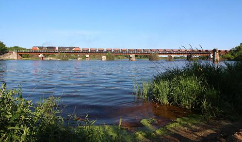 escanaba river cn u743 ore 8014 sd70m2 emd sd75i dmir jennies bridge marquette range sub michigan upper peninsula up empire mine railroad unit canadian national wells