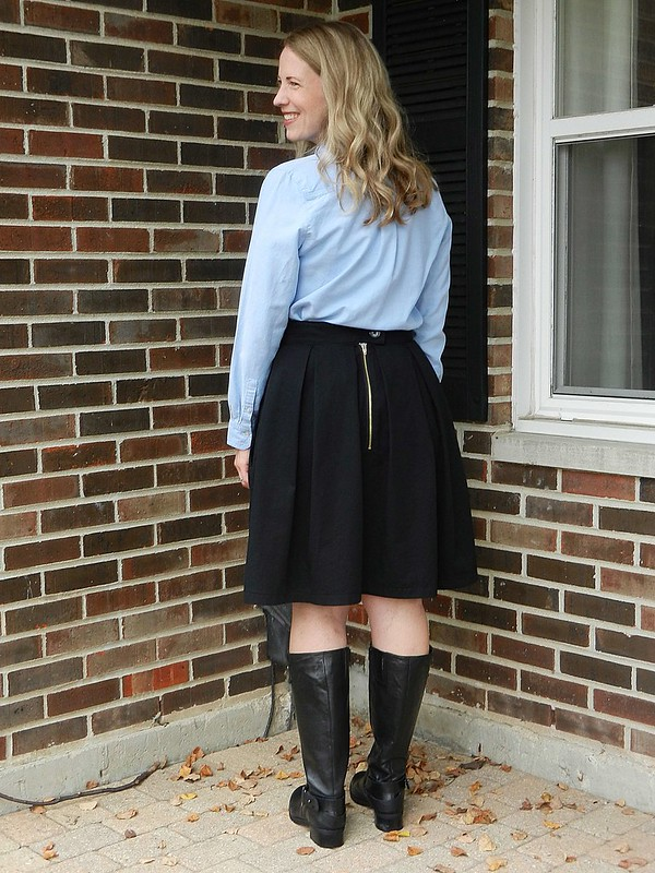 Oxford and Skirt back