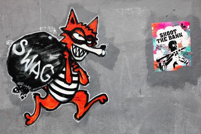 Mau Mau, Street Art Without Border  & Shoot The Bank, Bilbao. SP.