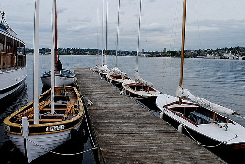Sailboats at Dock, South Lake Union   by JoeInSouthernCA