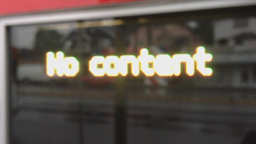 No content