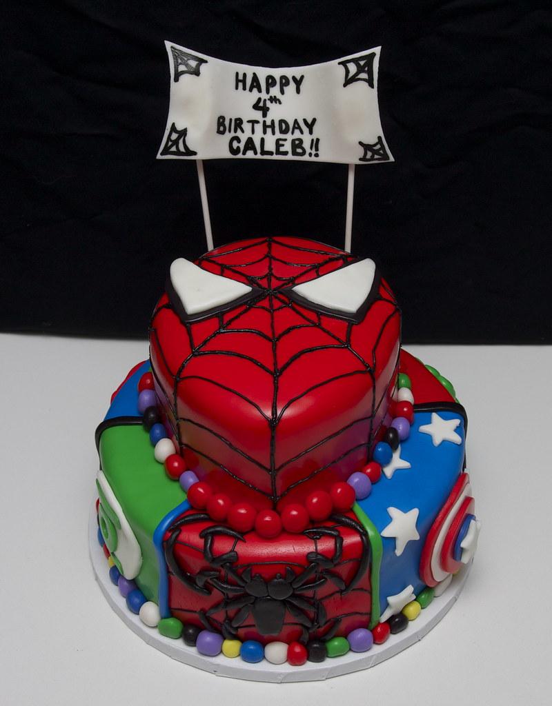 Superhero Cake Batman Spiderman Superman Green Lantern Flickr