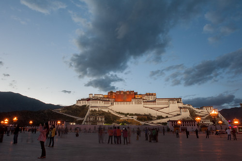 china old abstract church architecture night temple ancient asia buddha buddhist prayer religion buddhism places landmark tibet historic lhasa potolapalace potalasquare