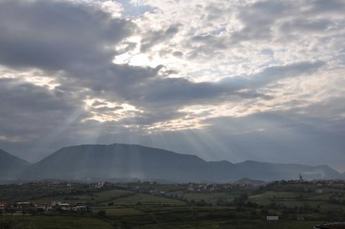 sky clouds sunrise europe albania tirana