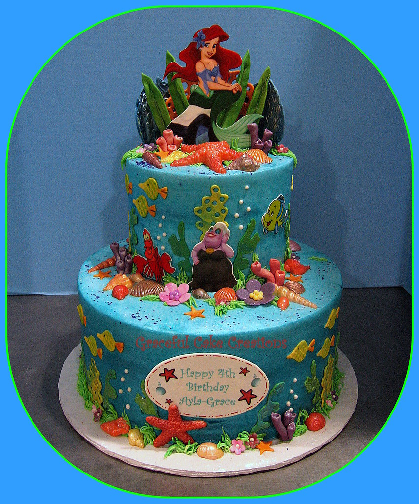 Ariel Little Mermaid Birthday Cake