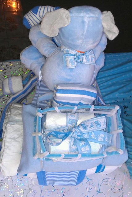 Tricycle Diaper Cake Back View