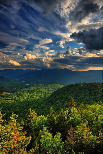 sky mountain canon landscape big little upstate adirondacks valley crow keene adks waterfallguy clulds
