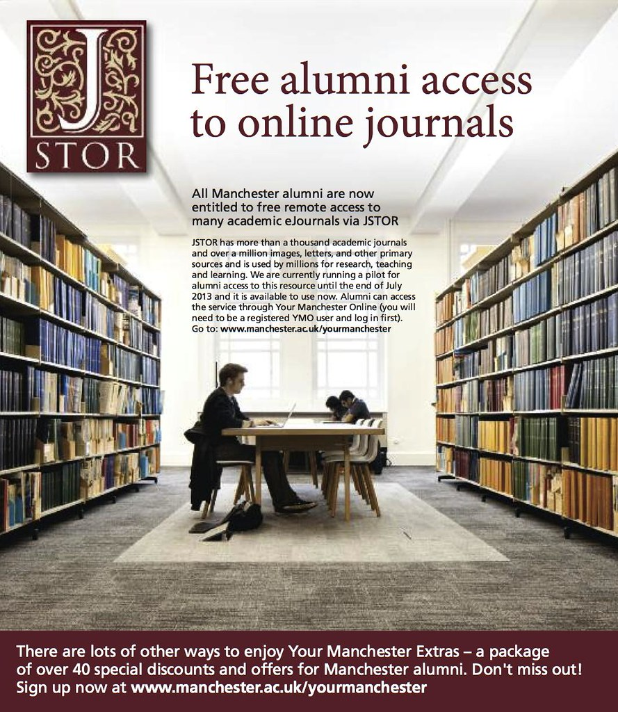 Free alumni access to online journals by JSTOR wouldn't be