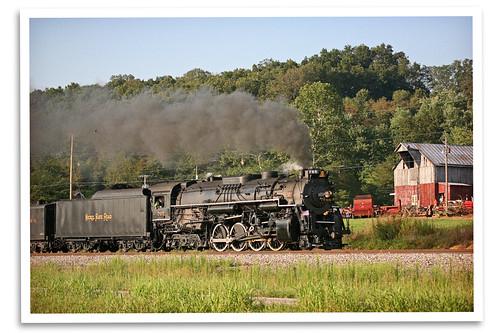 ohio ferry barn train lima farm portsmouth locomotive berkshire steamengine deadhead superpower norfolksouthern nickelplateroad 30thanniversary 765 fortwaynerailroadhistoricalsociety 765org