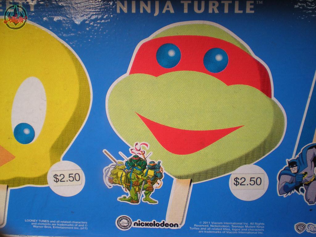 Blue Bunny :: Teenage Mutant Ninja Turtle 'Face' Bars - vendor sticker strip i (( 2011 )) by tOkKa