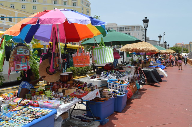 Puerto Rican craft market in Old San Juan Puerto Rico