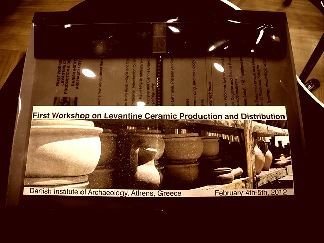 First Workshop on Levantine Ceramics