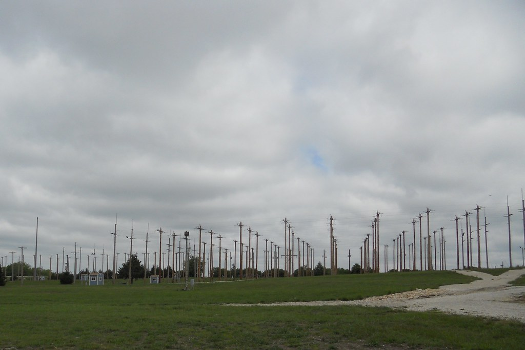 Telephone Pole Farm | There are a lot of telephone poles out