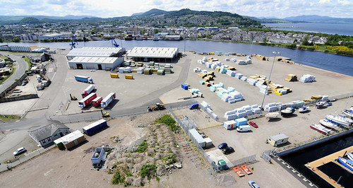 http://www.aerialscotland.co.uk - Longman Industrial Estate Inverness - Inverness Port Aerial Image_ASN1931