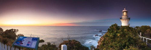 ocean sea lighthouse holiday sunrise australia shipwreck nsw sugarloafpoint