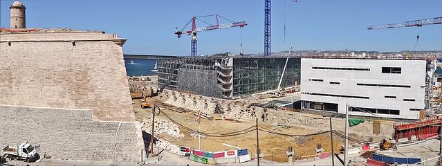 Le chantier du MuCEM en juillet 2012 (Marseille)