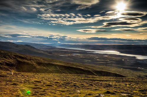 canon7d egilsstaðir europe hdr iceland inspiredbyiceland lagarfljót clouds nature photography river sky water east light ray mountain