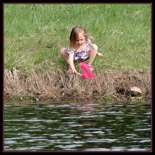 summer water girl fun seasons amphibian frog hunter flickraward