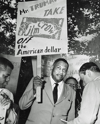 Robeson - Take Jim Crow off the American dollar: 1949 | by Washington Area Spark