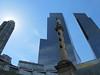 New York – sloup na Columbus Circle obklopený mrakodrapy Time Warner Center, foto: Luděk Wellner