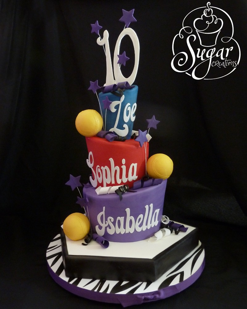 Strange Softball Birthday Cake For Triplets Letters And Numbers We Flickr Personalised Birthday Cards Paralily Jamesorg
