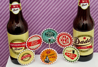picture about Printable Beer Labels titled Retro printable Beer bottle labels cupcake toppers Beer ca
