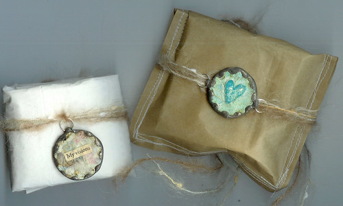 soldered tag charms + cute packaging