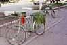 Fahrradständer vor dem Warenhaus in der Dorfmitte. In den 1970er Jahren wird der Import ausländischer Räder eingestellt. Rumänien unter Ceausescu produziert jetzt eigene Fahrräder.