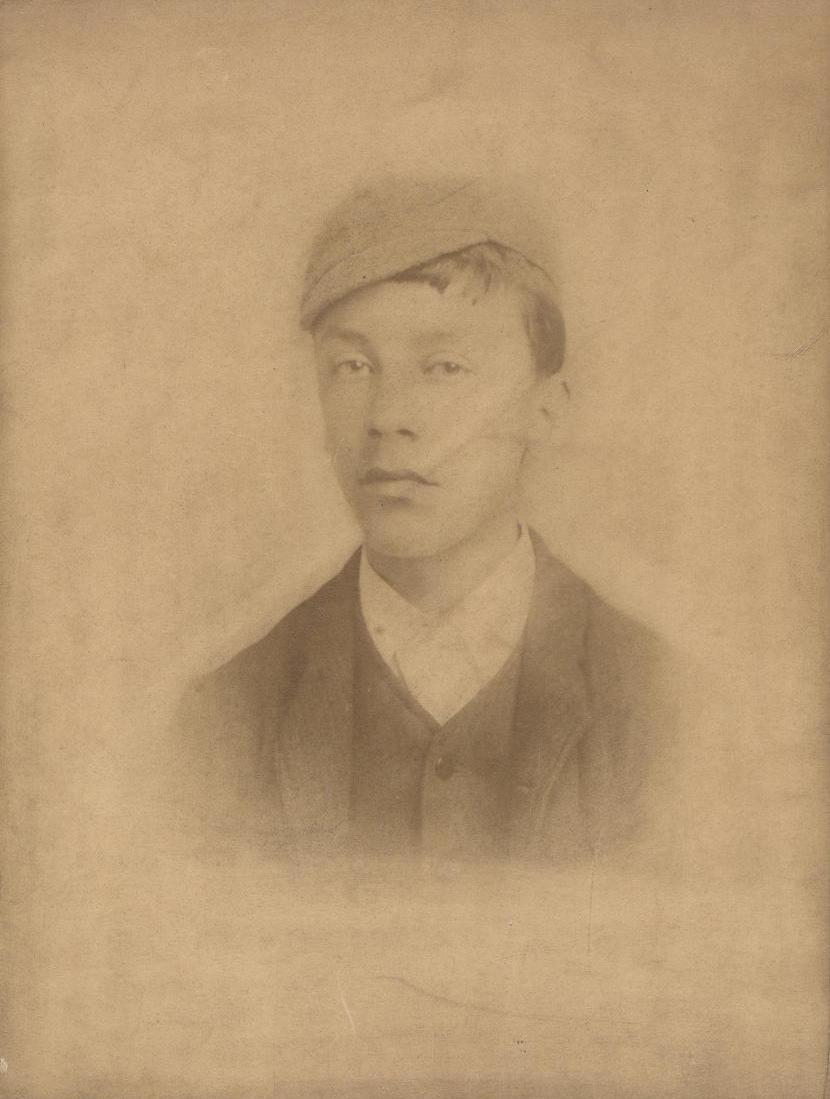 Fred Elwell (Beverley artist) as a boy circa 1885 (archive ref DDX1506-2-8)