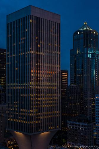 seattle nikon d800 nikond800 washington downtown sunset reflection