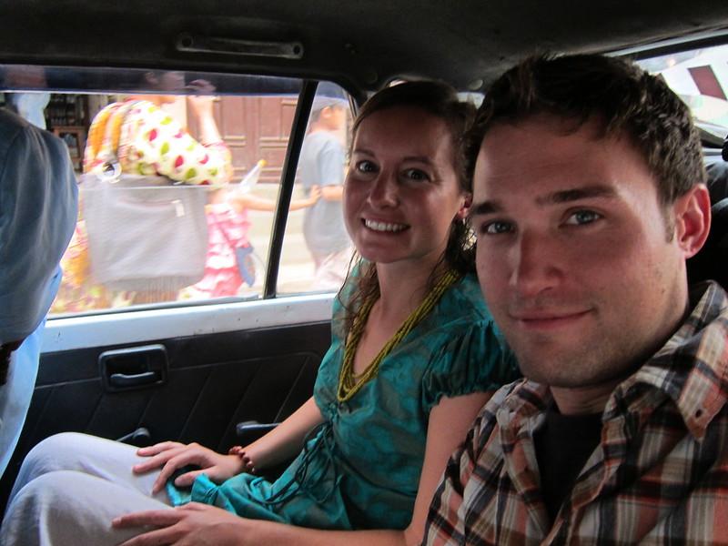 Heading to the airport. Kathmandu, Nepal