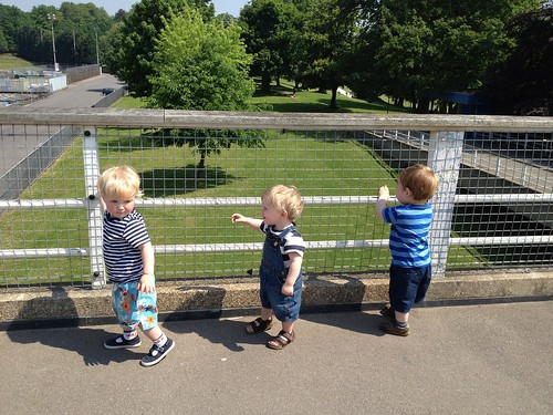 At Crystal Palace with Freddie and Jake