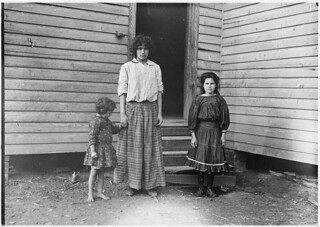 Smallest girl - Corrine Goud, runs 3 and 4 sides. Been in mill 3 years. Oldest sister said she goes to school, but couldn't spell her own name, December 1908