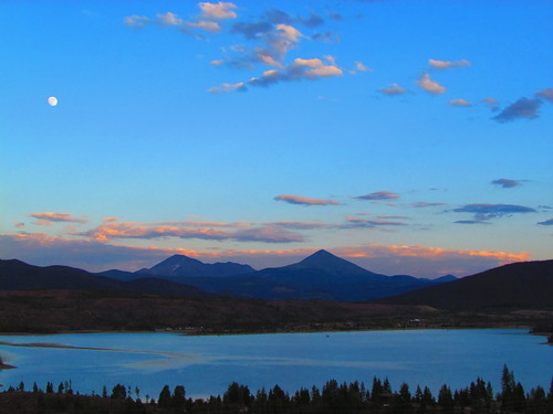 sunset colorado lakedillon