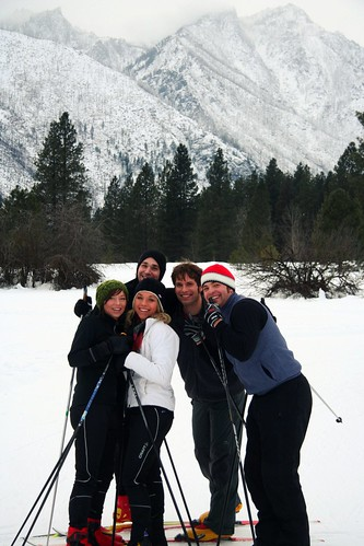 Cross Country Skiing at the Leavenworth Fish Hatchery   by ospreyraftingco