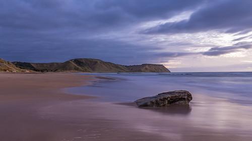 beach coast eastland landscape longexposure nz newzealand pouawabeach sunrise