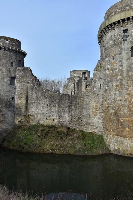 Château de La Hunaudaye, la douve